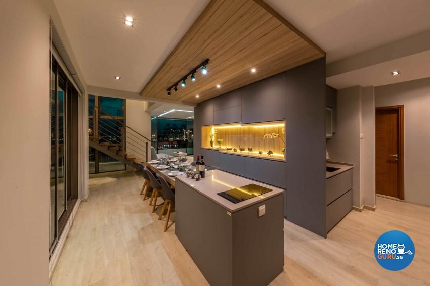 Modern, Victorian Design - Kitchen - HDB 4 Room - Design by All About Designs Pte Ltd
