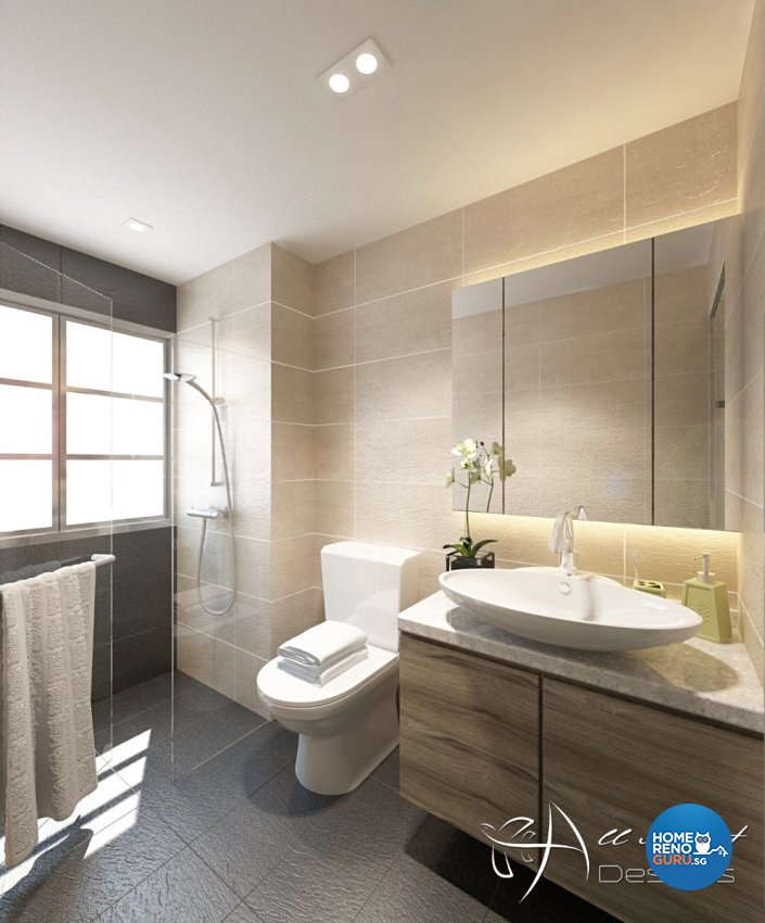Contemporary, Modern Design - Bathroom - Condominium - Design by All About Designs Pte Ltd