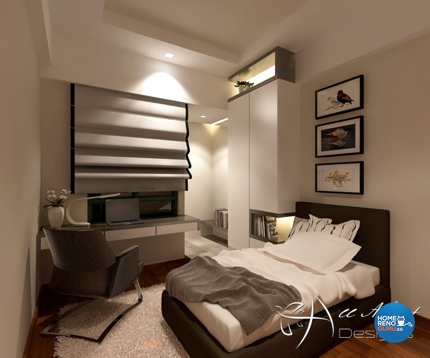 Contemporary, Modern Design - Bedroom - Condominium - Design by All About Designs Pte Ltd