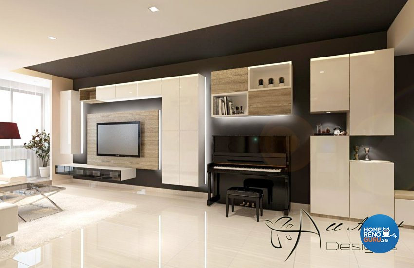 Contemporary, Modern Design - Living Room - Condominium - Design by All About Designs Pte Ltd