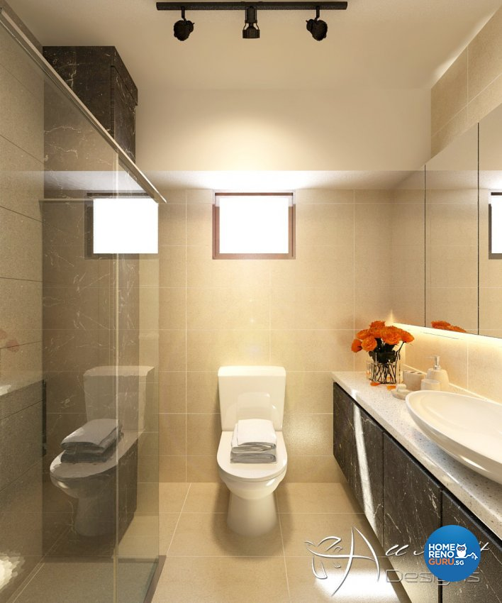 Contemporary, Modern Design - Bathroom - HDB 5 Room - Design by All About Designs Pte Ltd