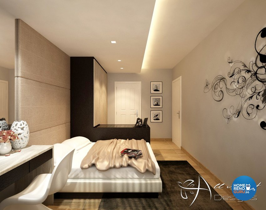 Contemporary, Modern Design - Bedroom - HDB 5 Room - Design by All About Designs Pte Ltd