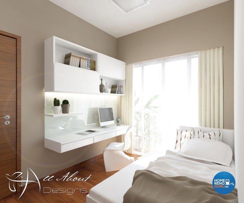 Contemporary, Modern Design - Bedroom - Condominium - Design by All About Designs Pte Ltd
