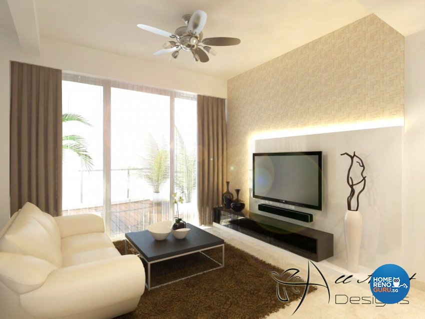 Contemporary, Modern Design - Living Room - Condominium - Design by All About Designs Pte Ltd