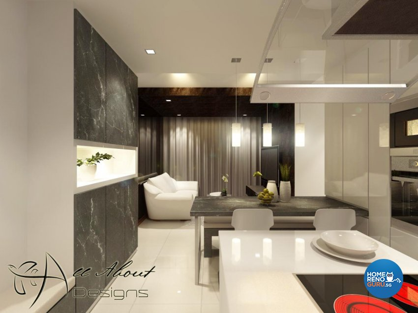 Contemporary, Modern Design - Dining Room - HDB 4 Room - Design by All About Designs Pte Ltd