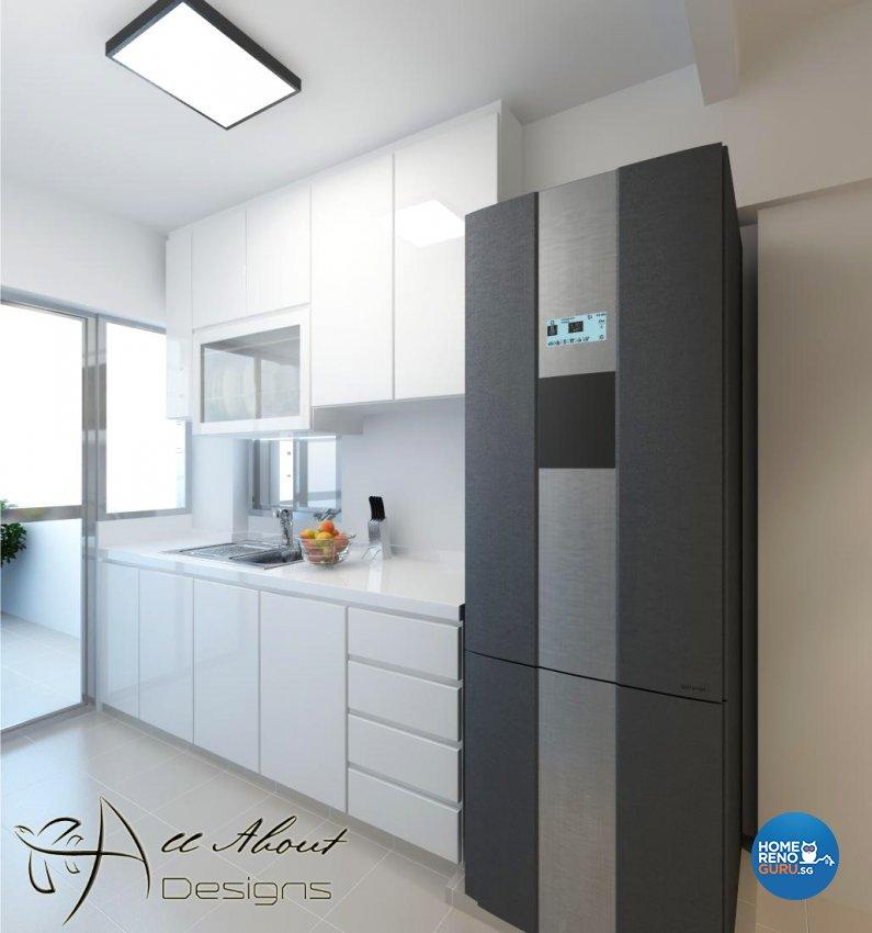 Contemporary, Modern Design - Kitchen - HDB 4 Room - Design by All About Designs Pte Ltd