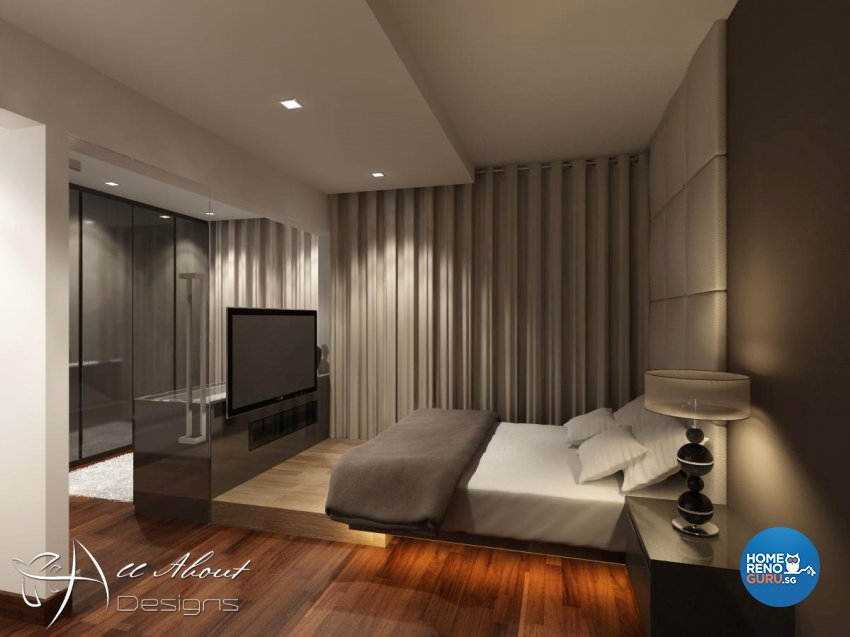Contemporary, Modern Design - Bedroom - HDB 4 Room - Design by All About Designs Pte Ltd