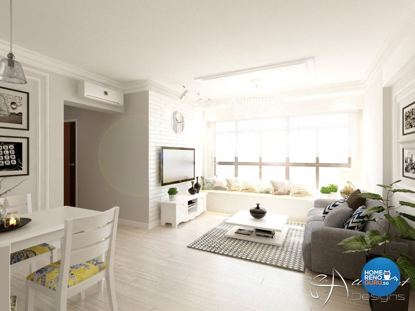 Classical, Contemporary, Victorian Design - Living Room - HDB 4 Room - Design by All About Designs Pte Ltd