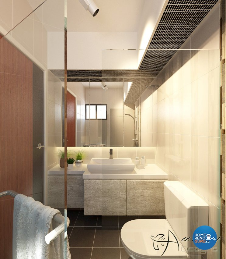 Classical, Contemporary, Victorian Design - Bathroom - HDB 4 Room - Design by All About Designs Pte Ltd