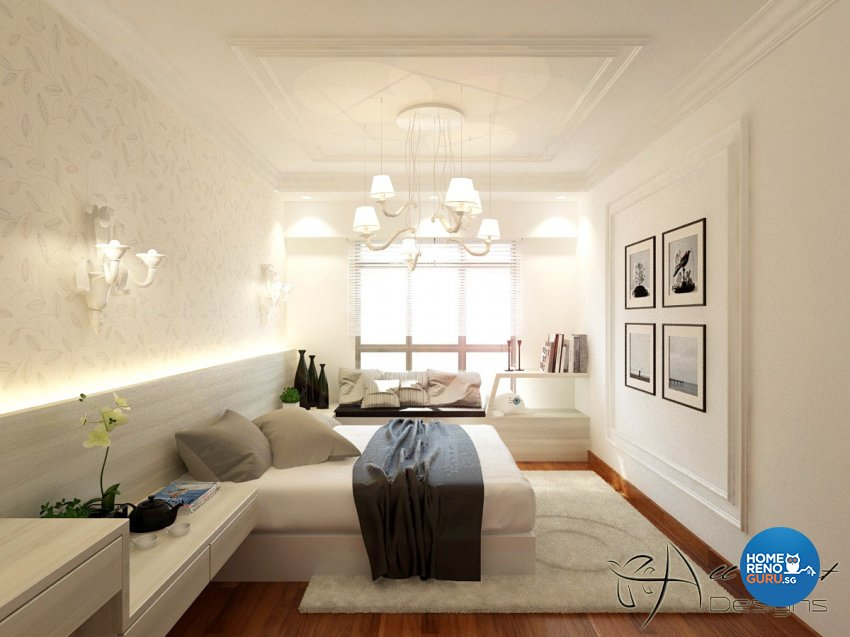 Classical, Contemporary, Victorian Design - Bedroom - HDB 4 Room - Design by All About Designs Pte Ltd