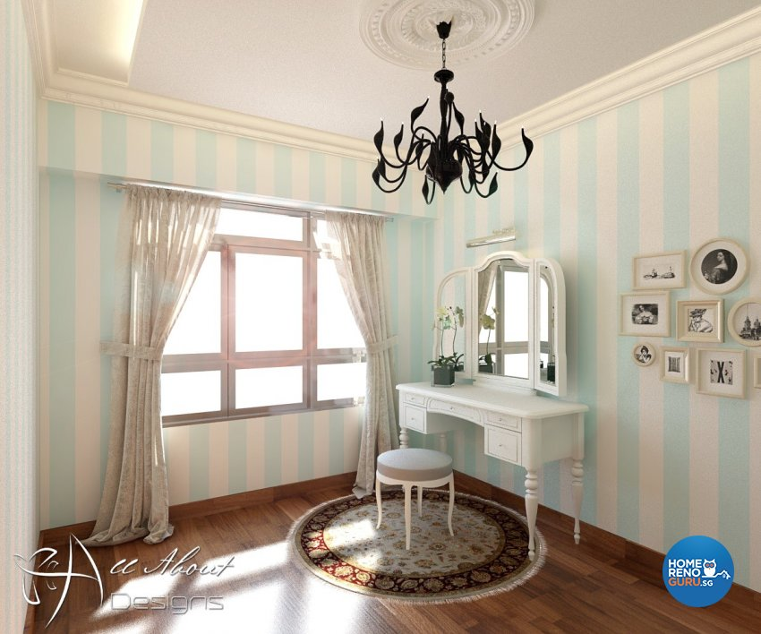 Classical, Contemporary, Victorian Design - Study Room - HDB 4 Room - Design by All About Designs Pte Ltd