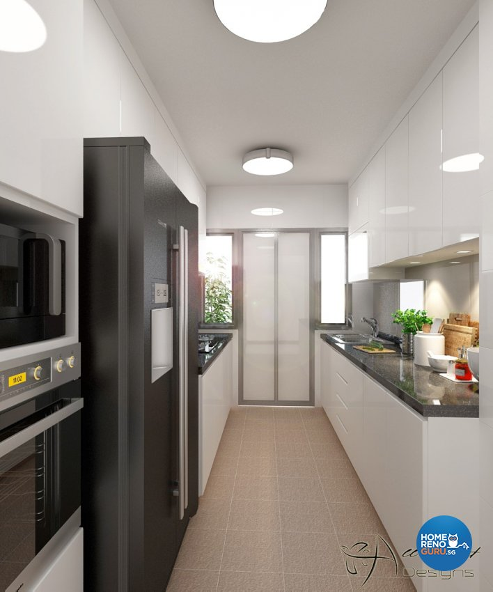Contemporary, Minimalist, Modern Design - Kitchen - HDB 4 Room - Design by All About Designs Pte Ltd