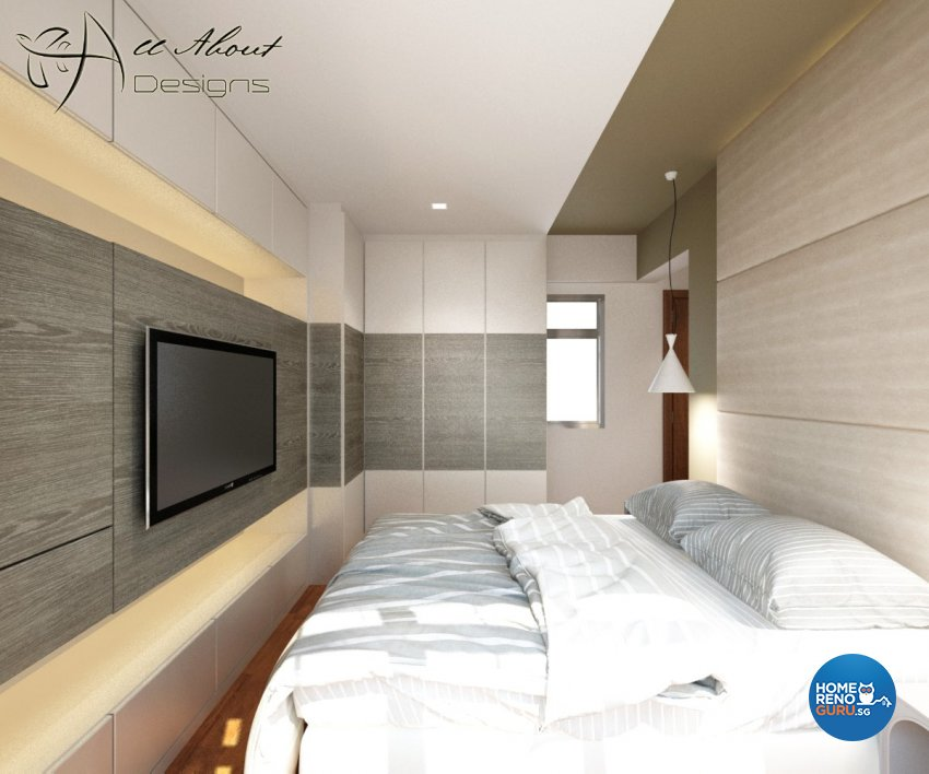 Contemporary, Minimalist, Modern Design - Bedroom - HDB 4 Room - Design by All About Designs Pte Ltd