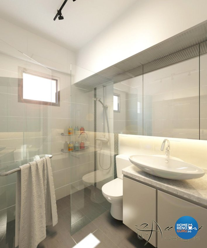 Contemporary, Minimalist, Modern Design - Bathroom - HDB 4 Room - Design by All About Designs Pte Ltd