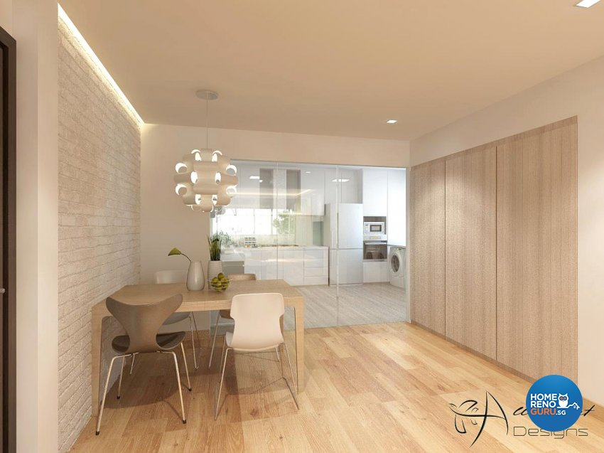 Contemporary, Minimalist, Scandinavian Design - Dining Room - HDB 5 Room - Design by All About Designs Pte Ltd