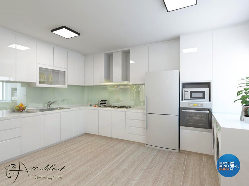Contemporary, Minimalist, Scandinavian Design - Kitchen - HDB 5 Room - Design by All About Designs Pte Ltd