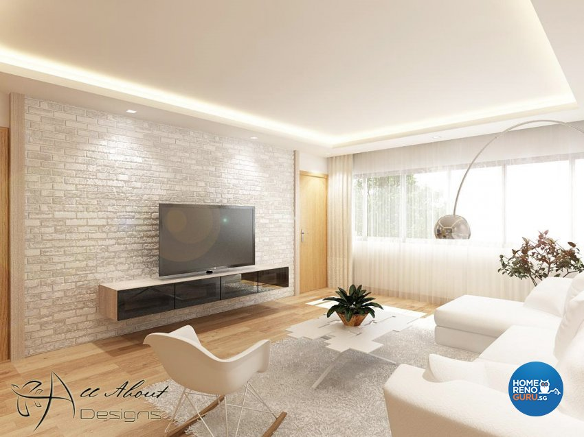 Contemporary, Minimalist, Scandinavian Design - Living Room - HDB 5 Room - Design by All About Designs Pte Ltd