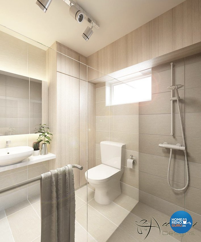 Contemporary, Minimalist, Scandinavian Design - Bathroom - HDB 5 Room - Design by All About Designs Pte Ltd