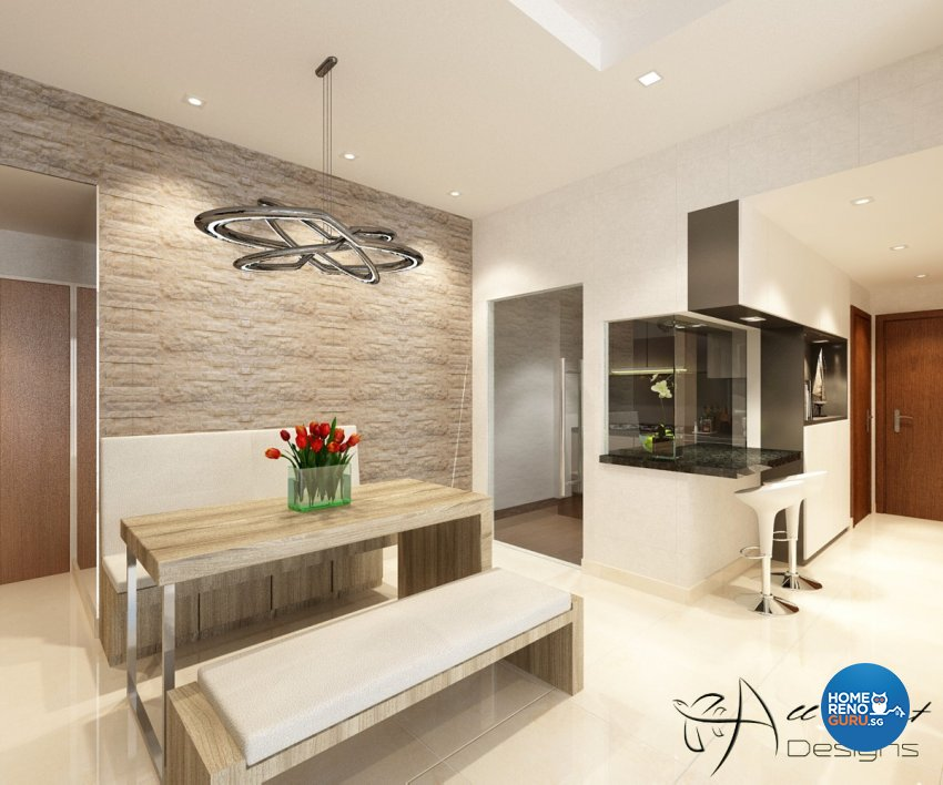Contemporary, Modern Design - Dining Room - Condominium - Design by All About Designs Pte Ltd