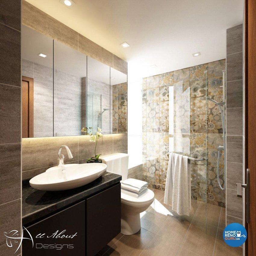 Contemporary, Modern Design - Bathroom - Condominium - Design by All About Designs Pte Ltd