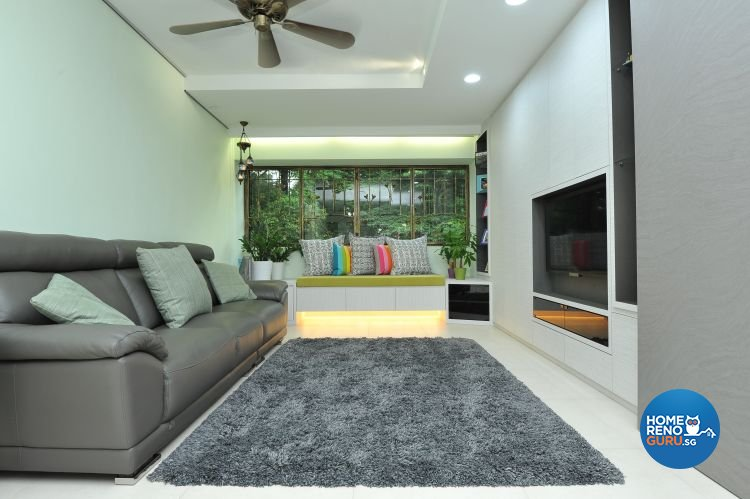 Minimalist, Modern Design - Living Room - HDB Executive Apartment - Design by Amazon Interior Design