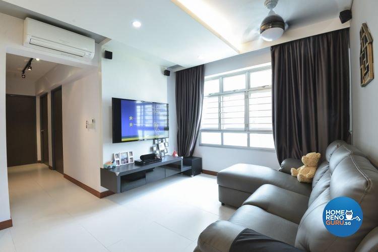 Eclectic, Minimalist, Modern Design - Living Room - HDB 4 Room - Design by Amazon Interior Design