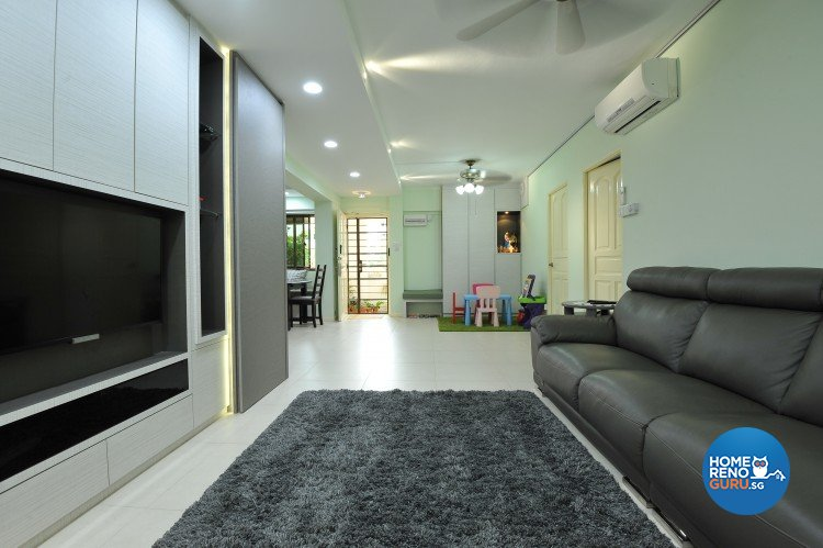 Eclectic, Minimalist, Scandinavian Design - Living Room - HDB Executive Apartment - Design by Amazon Interior Design