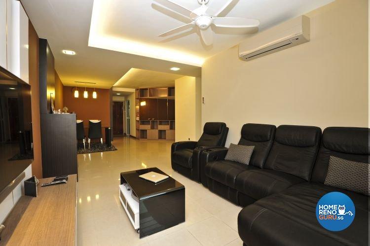Classical, Retro Design - Living Room - HDB 4 Room - Design by Amazon Interior Design