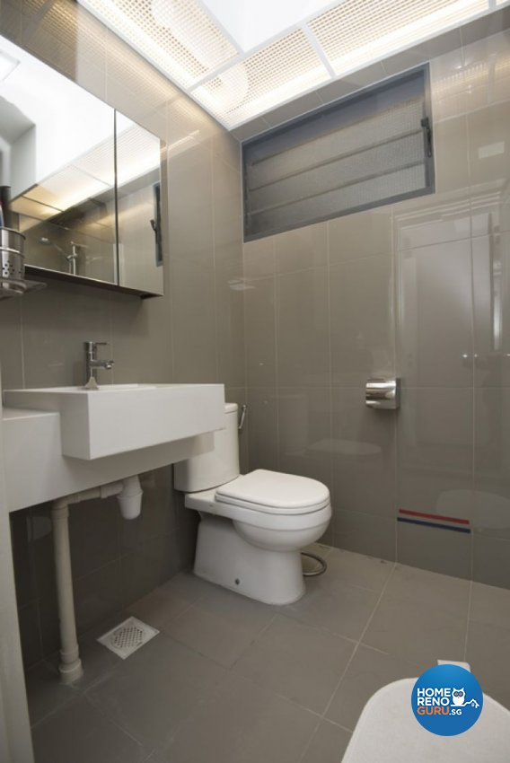 Minimalist, Modern Design - Bathroom - HDB 4 Room - Design by Amazon Interior Design