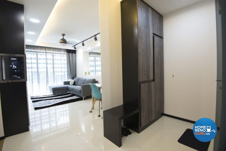 Minimalist, Modern Design - Living Room - HDB 4 Room - Design by Amazon Interior Design