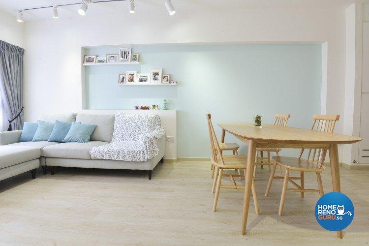 Minimalist scandinavian design living room hdb 4 room design by amazon interior