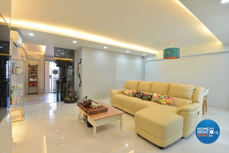 Classical, Contemporary, Modern Design - Living Room - HDB 5 Room - Design by Amazon Interior Design
