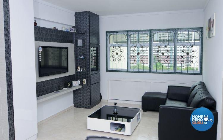 Minimalist, Modern Design - Living Room - HDB 4 Room - Design by Amazon Interior Design