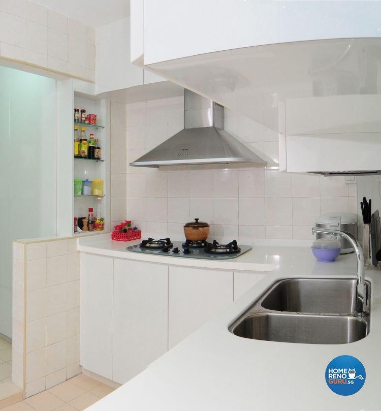 Minimalist, Modern Design - Kitchen - HDB 4 Room - Design by Amazon Interior Design