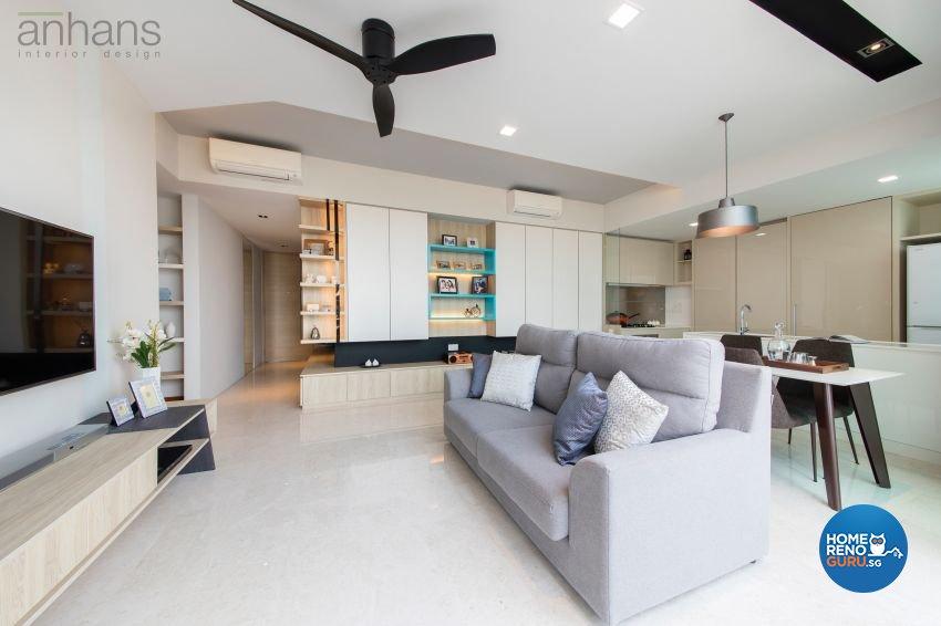 Contemporary, Modern Design - Living Room - Condominium - Design by Anhans Interior Design Pte Ltd