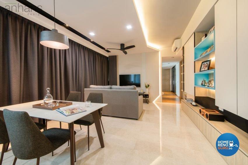 Contemporary, Modern Design - Dining Room - Condominium - Design by Anhans Interior Design Pte Ltd