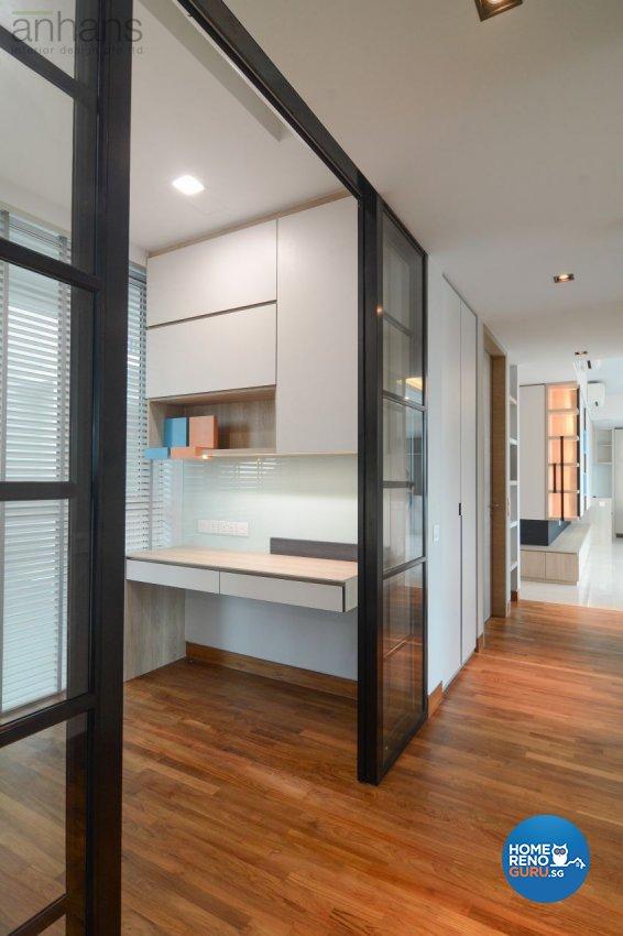 Contemporary, Modern Design - Study Room - Condominium - Design by Anhans Interior Design Pte Ltd