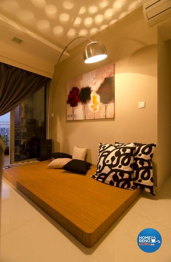 Classical, Contemporary Design - Living Room - HDB 5 Room - Design by Aphrodite Interior Design Pte Ltd