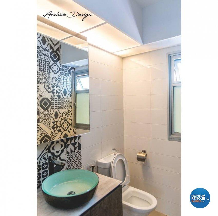 Eclectic, Modern Design - Bathroom - HDB 4 Room - Design by Archive Interior Design Pte Ltd