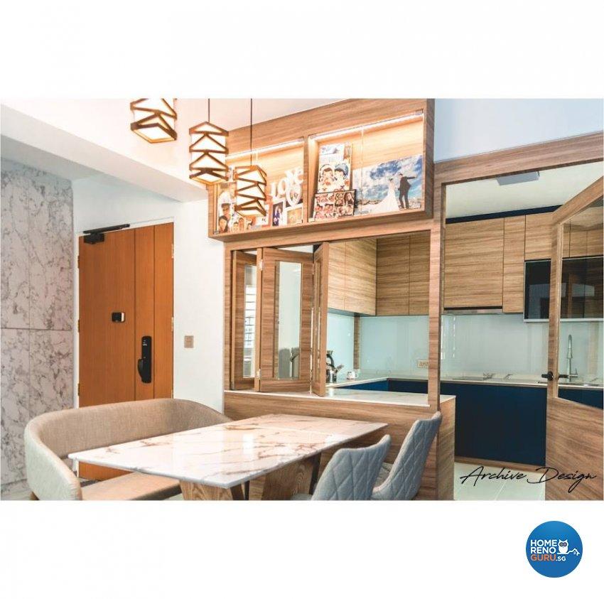 Eclectic, Modern Design - Dining Room - HDB 4 Room - Design by Archive Interior Design Pte Ltd