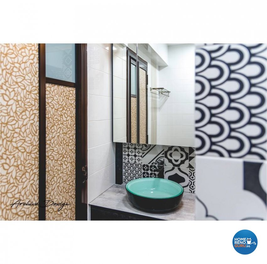 Eclectic, Modern Design - Bathroom - HDB 4 Room - Design by Archive Interior Design Pte Ltd