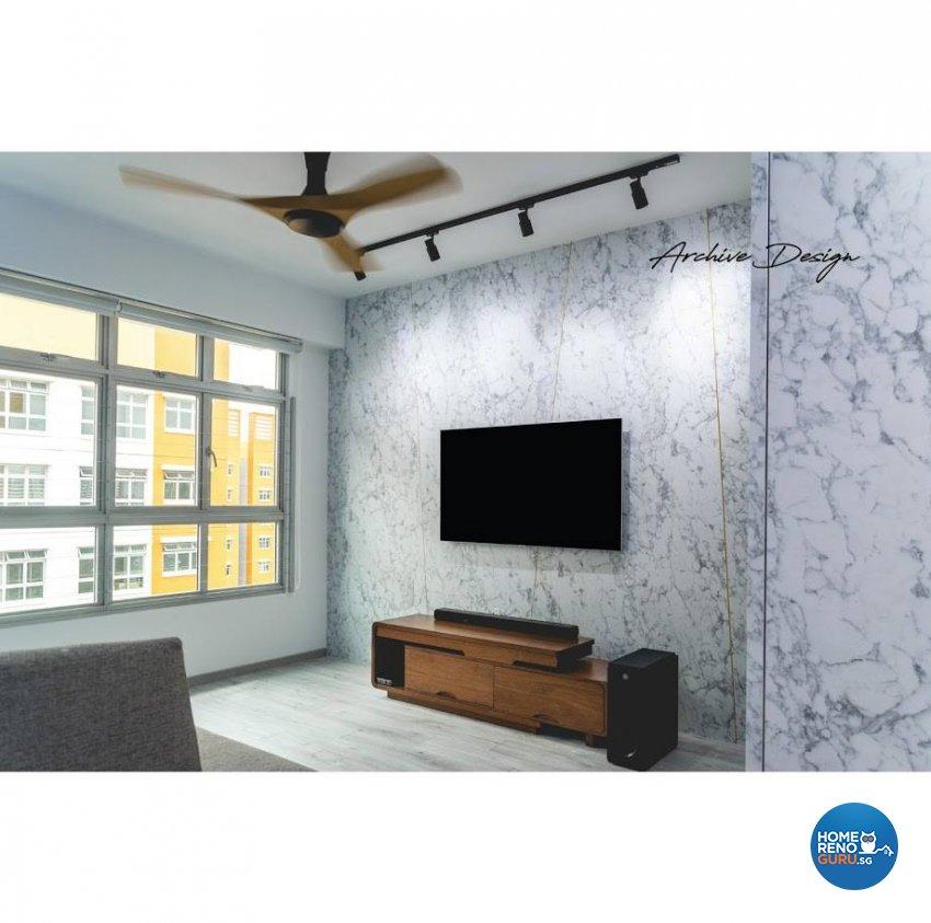 Eclectic, Modern Design - Living Room - HDB 4 Room - Design by Archive Interior Design Pte Ltd