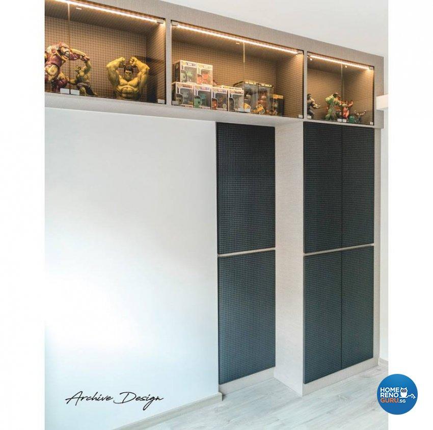 Eclectic, Modern Design - Study Room - HDB 4 Room - Design by Archive Interior Design Pte Ltd
