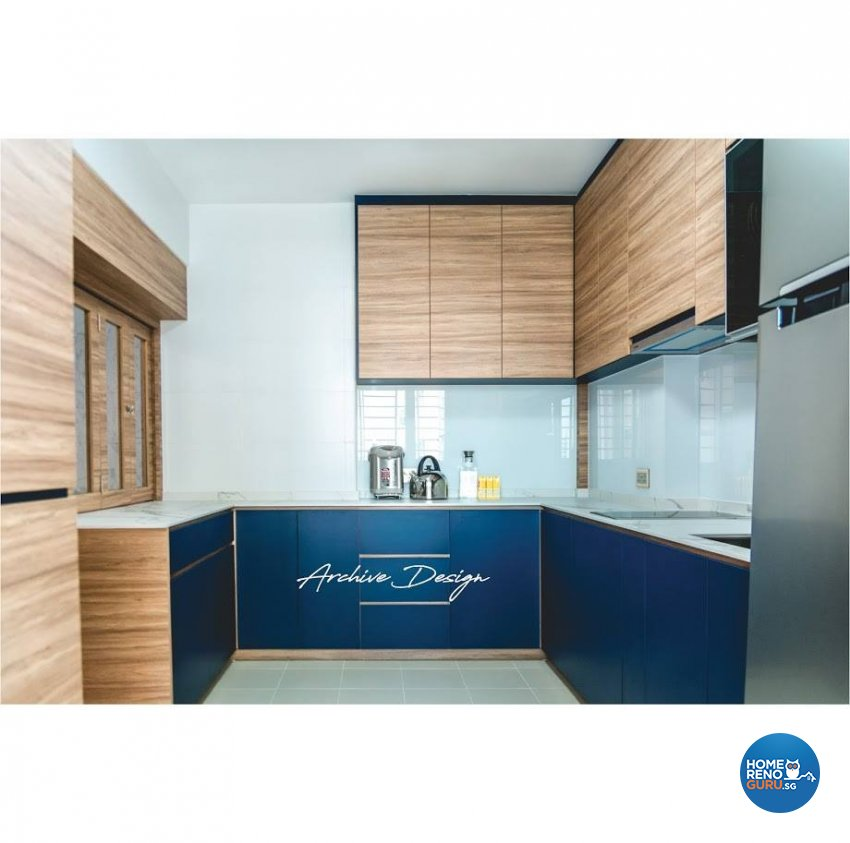 Eclectic, Modern Design - Kitchen - HDB 4 Room - Design by Archive Interior Design Pte Ltd