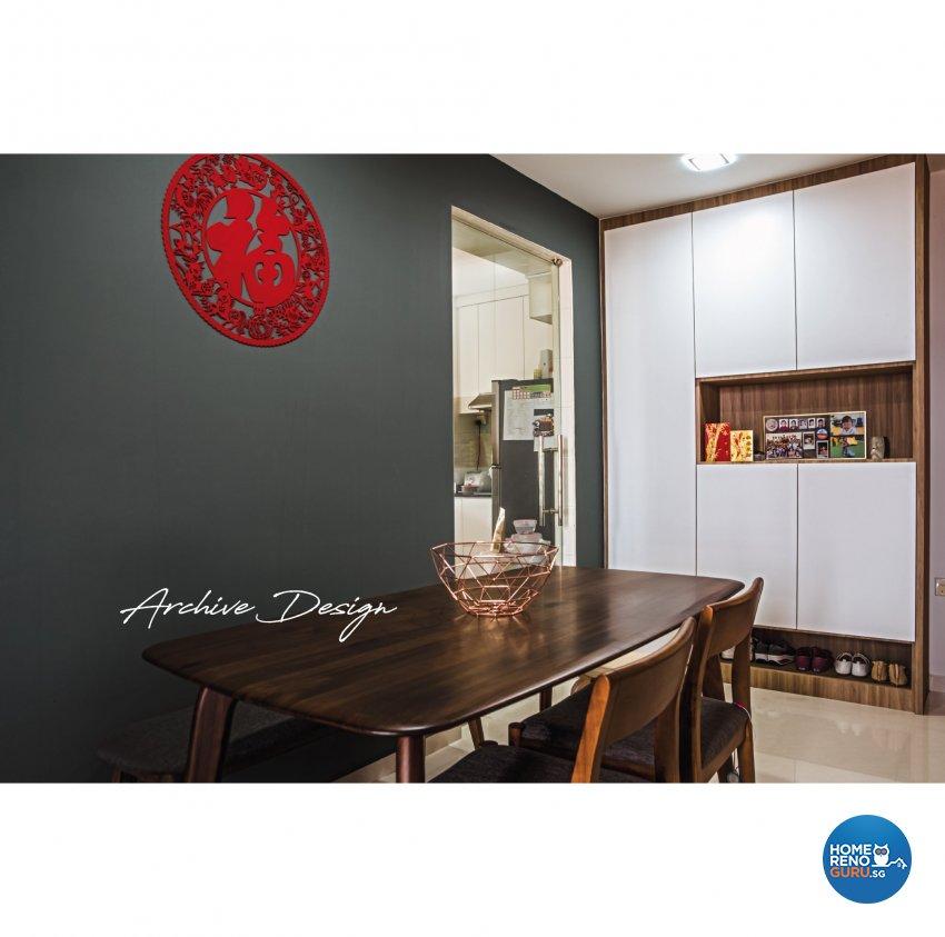 Modern, Scandinavian Design - Dining Room - HDB 4 Room - Design by Archive Interior Design Pte Ltd