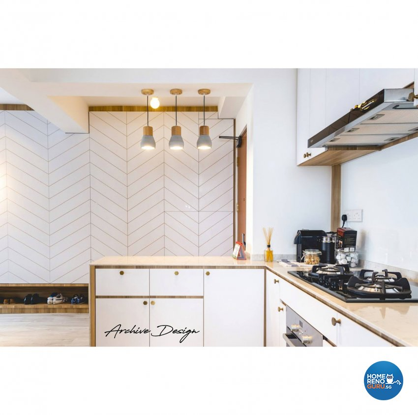 Scandinavian Design - Kitchen - HDB 4 Room - Design by Archive Interior Design Pte Ltd