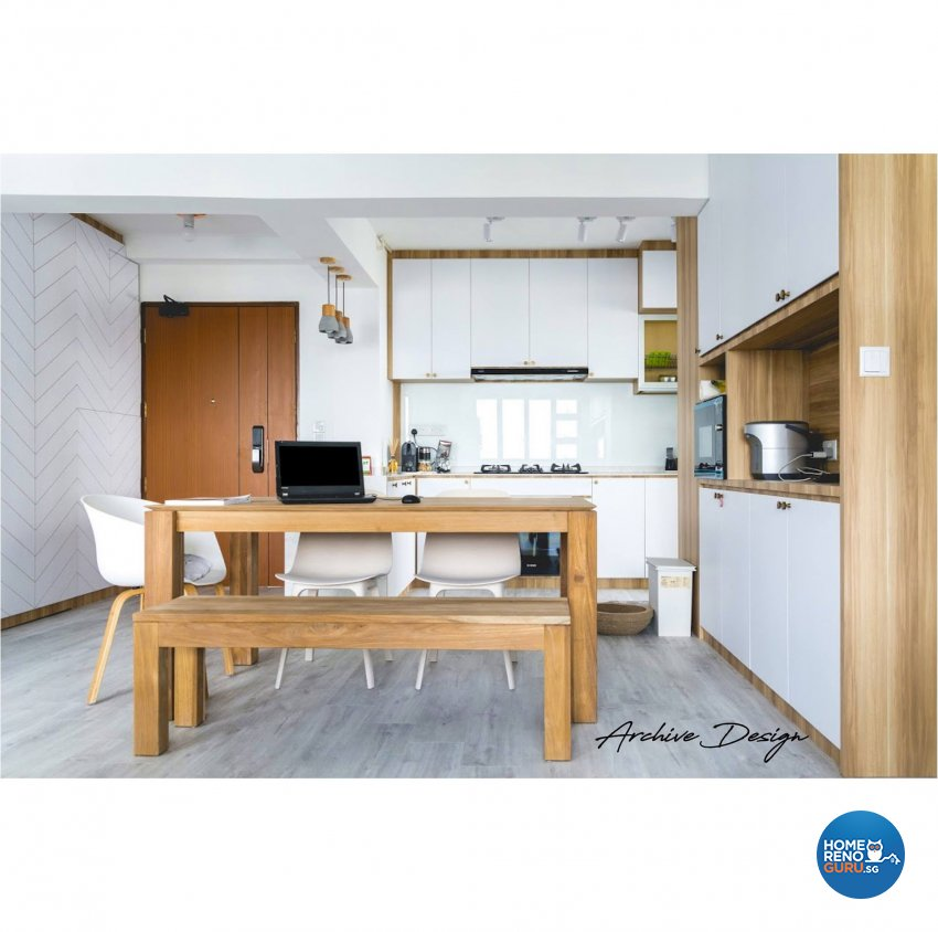 Scandinavian Design - Dining Room - HDB 4 Room - Design by Archive Interior Design Pte Ltd
