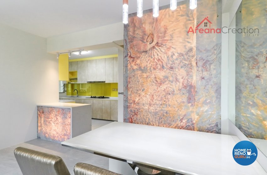 Contemporary, Modern Design - Dining Room - HDB 4 Room - Design by Areana Creation Pte Ltd
