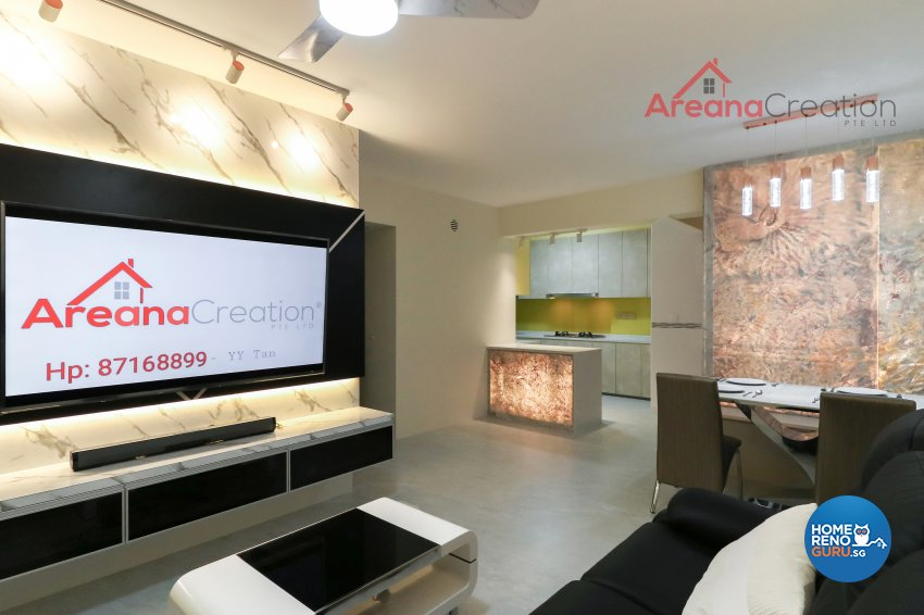 Contemporary, Modern Design - Living Room - HDB 4 Room - Design by Areana Creation Pte Ltd
