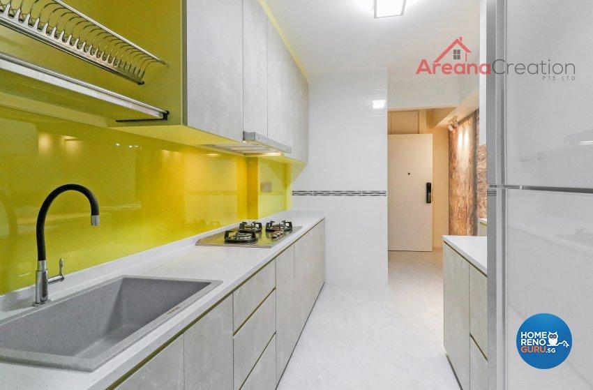 Contemporary, Modern Design - Kitchen - HDB 4 Room - Design by Areana Creation Pte Ltd